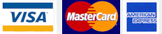 We accept Credit Card Payments