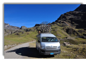 Cusco small group bike tour - transport