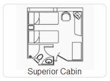 Plano de la cabina superior - Crucero Galapagos Legend