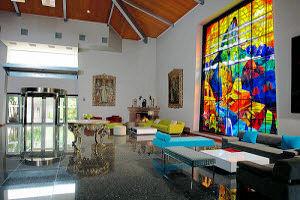 Pintoresco hall de recepción en el Aranwa Sacred Valley