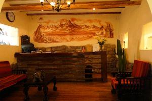 Apu Huascaran Hostal reception desk