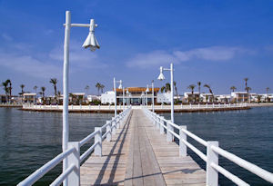 Libertador Luxury Hotel Paracas view from the dock