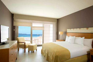 Paracas Double Tree by Hilton - king size bed guest room