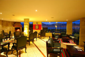 Casa Andina Private Collection Puno hotel lounge at night