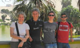 The Cantelli family enjoyed a 16-day tour covering Peru's southern circuit. Here they are (Claudio, Flavia, Davide and Tommaso) at the Huacachina oasis in Ica.