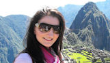 Irina Chernova en Machu Picchu