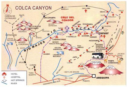 Mapa turístico de Arequipa - Colca Cañón