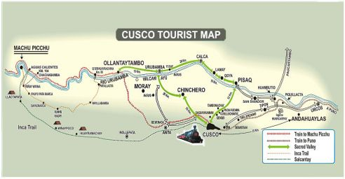 Cusco maps cuzco travel information cusco site map machu picchu ollantaytambo urubamba calca pisaq llactapata publicscrutiny Image collections