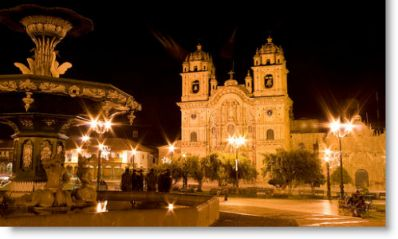 Night Cusco main square - Peru Tours