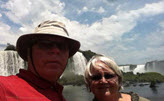 Bernie and Mary Anne at Iguazu Fall during their South American vacation