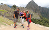 Dennis, Rhia, Gigi and Ruby on family vacation at Machu Picchu