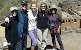 Magas family on their private tour of the Inca ruins of Pisaq