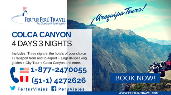 Colca Canyon Tour 4 Days 3 Nights