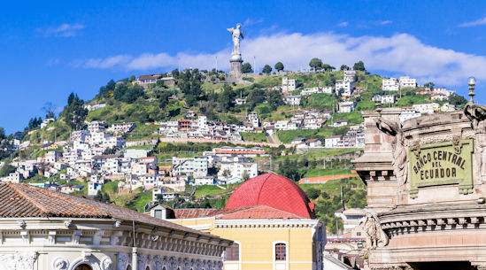 The Virgin in Panecillo sculpure in Quito, Ecuador