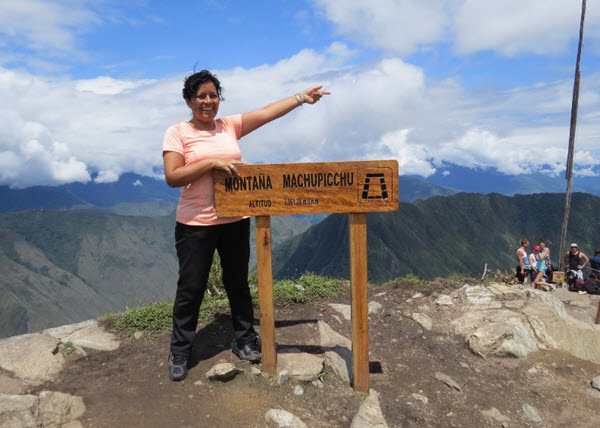 Siduith Ferrer Herrera, founder and owner of Fertur Peru Travel, on recent visit to Machu Picchu