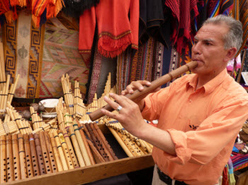 Photo taken during a tour of the Pisaq market in Cusco's Sacred Valley of the Inca