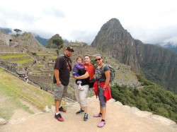 Phillips-Calderon family loved their tour of Cusco and Machu Picchu