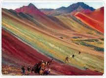 trekking around Ausangate to Rainbow Mountain.