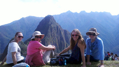 Booth family in Machu Picchu